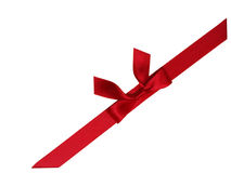 Red bow 4. A red bow for decorating Royalty Free Stock Photography