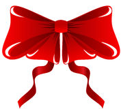 Red Bow. Illustration of a festive red bow, isolated Royalty Free Stock Image