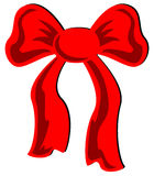 Red Bow. Illustration of a festive red bow, isolated Stock Photo