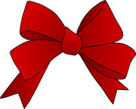 Red bow. Add a bow to photos or boxes for your promotions or publications Stock Photos