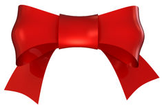 Red bow. With clipping path vector illustration