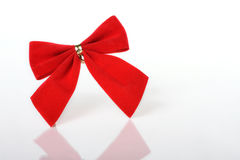 Red Bow. Red Christmas Bow on white background stock image