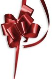 Red Bow. On white Background royalty free stock images