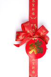 Red Bow And Chinese Alphabet Royalty Free Stock Image