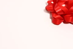 Red Bow background. On white off white screen Stock Photography