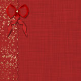 Red bow and beautiful background Royalty Free Stock Images