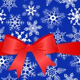 Red bow on a Christmas background. eps10 Stock Image