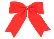 Red bow-Christmas decoration Stock Photos