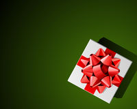 Red bow on Christmas present Royalty Free Stock Photography