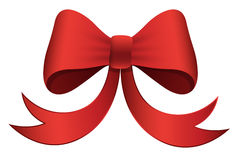 Red Bow - Christmas Vector Illustration Stock Images
