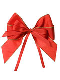 Red bow with clipping path Royalty Free Stock Photo