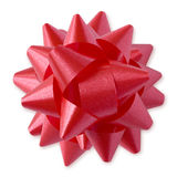 Red Bow (+clipping path) Royalty Free Stock Photography