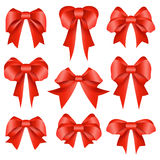 Red bow collection Royalty Free Stock Photography
