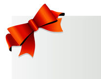 Red bow on the corner. Vector Stock Photo
