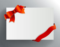 Red bow on the corner. Vector Royalty Free Stock Images