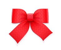 Red bow. Decorative element for gift. Stock Photo