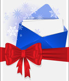Red bow with envelope Stock Image