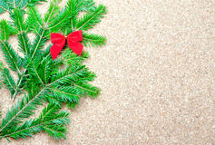 Red bow and fir tree Royalty Free Stock Images