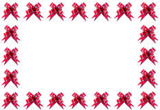 Red bow frame Stock Photography