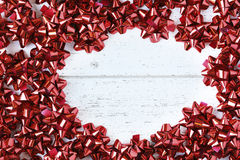 Red Bow Frame Royalty Free Stock Images