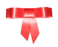 Red bow for gift Royalty Free Stock Photos
