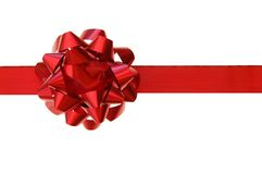Red bow, gift Stock Image