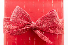 Red Bow Gift Box Stock Image