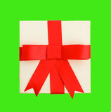 Red bow gift Stock Image
