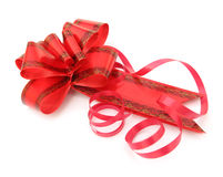 Red bow for gifts Royalty Free Stock Photography