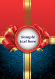 Red bow and gold ribbon Stock Photo