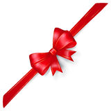 Red bow with gold strips Royalty Free Stock Photography