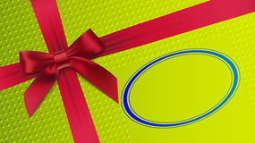 Red bow on a green background. Vector illustration Stock Images