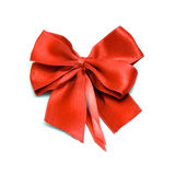 Red bow for greeting gift decoration Royalty Free Stock Images