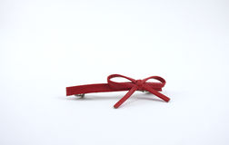 Red bow hair piece Stock Images