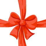 Red bow illustration isolated Royalty Free Stock Photo