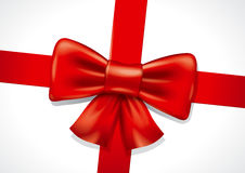 Red bow illustration Royalty Free Stock Images