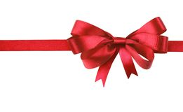Red bow isolated Royalty Free Stock Photography