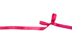 Red bow isolated Royalty Free Stock Image