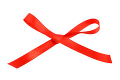 Red bow isolated Stock Photography