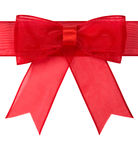 Red bow isolated Royalty Free Stock Photos