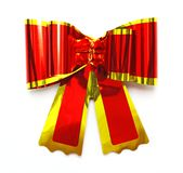 Red bow isolated on white Stock Photography