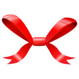 Red bow isolated on white. Royalty Free Stock Image
