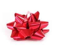 Red bow isolated on white Stock Image