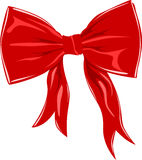 Red bow isolated on white Royalty Free Stock Image