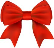 Red Bow. Isolated On White Royalty Free Stock Photos