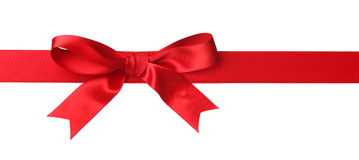 Red bow isolated Stock Images