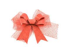 Red bow isolated on white background Royalty Free Stock Image