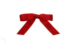 Red Bow Isolated on White Stock Images