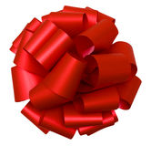 Red bow isolated on white, top view Stock Photos