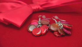 Red Bow Jewelry Royalty Free Stock Images